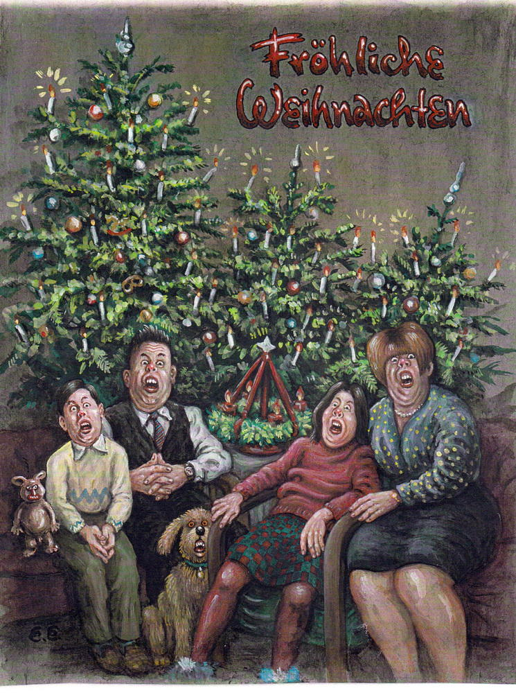 Ironische Weihnachtsgrüße.Vernissage Im Kunstkomplex Egner Schreibt Weihnachtsgrüße